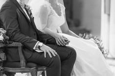 mariage, hands, amours église