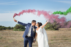 mariage wedding love amour fumigènes provence