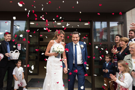 mairie pétales, amour, mariés, wedding