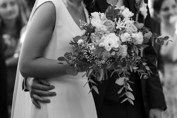 tendresse, bouquet, amour, couple, mariage