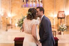 baiser église first kiss mariage