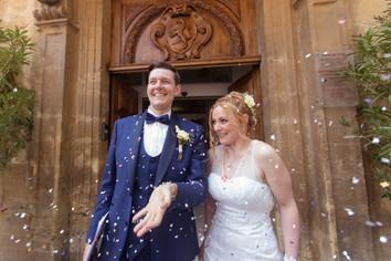 église, mariage, amour, confettis