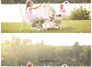 A sweet tea party and 6 month session