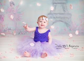 Baby Plan member McKenna's sweet strawberry cake smash!