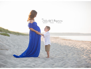 Katie's beautiful Cape Cod beach maternity session