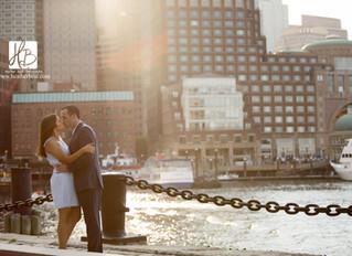Sonia and Ryan's Boston Seaport Engagement