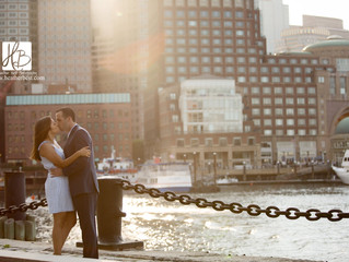 Sonia and Ryan's Boston Seaport Engagement