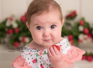 Grace's 6 month strawberry milk bath