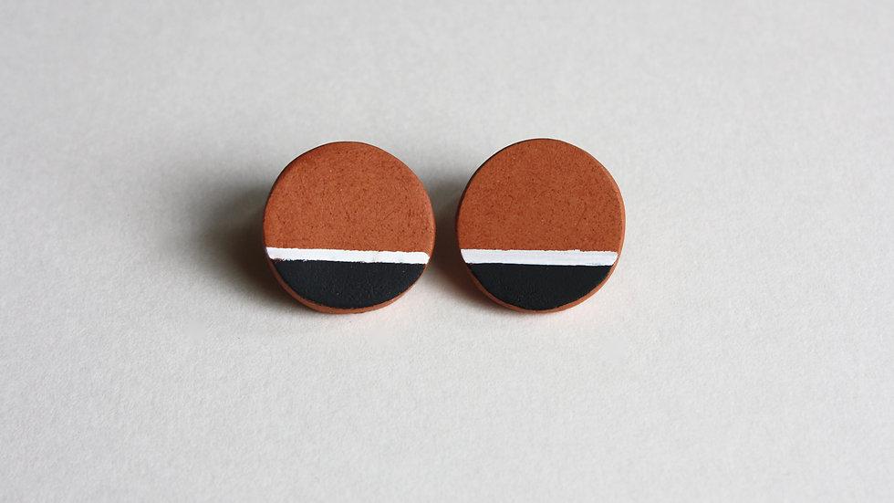 Terracotta Circle Studs