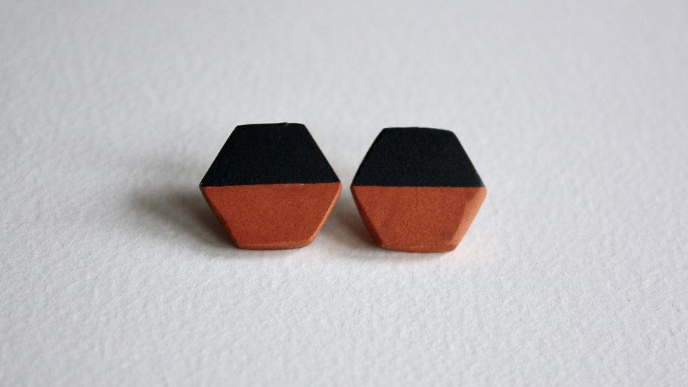 Small Hexagon Studs