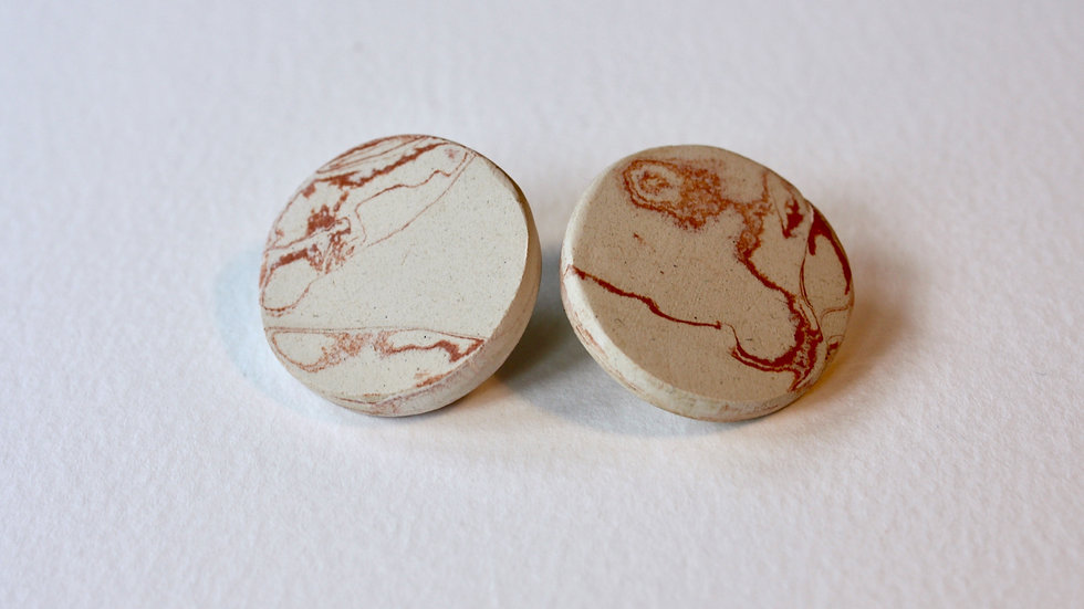 Large Marble Studs