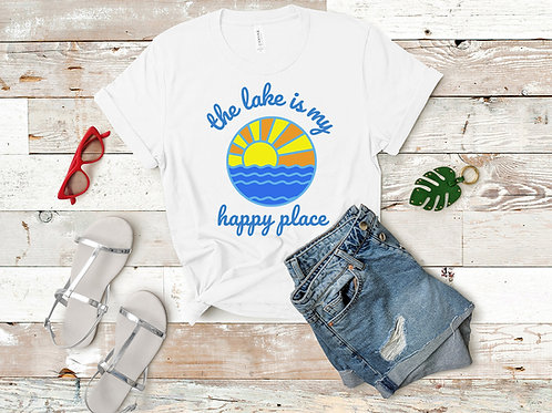 The Lake is My Happy Place Short-Sleeve T-Shirt