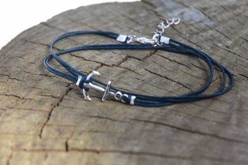 4-Strand Anchor Anklet - 8 Colors