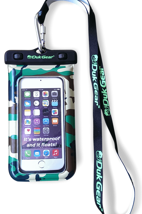 DUKPouch Camo - 100% Waterproof/Floating Cell Phone Pouch