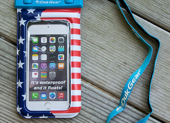 DUKPouch Star Spangled - 100% Waterproof/Floating Cell Phone Pouch