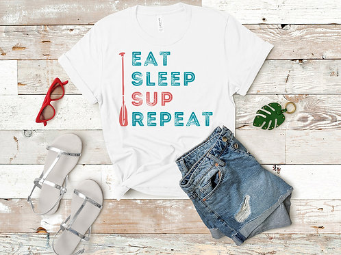 EAT SLEEP SUP REPEAT Short-Sleeve T-Shirt - 3 Colors