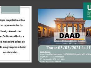 Palestra DAAD (Serviço Alemão de Intercâmbio Acadêmico)