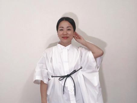 sacaiのデザイン白シャツが届きました!