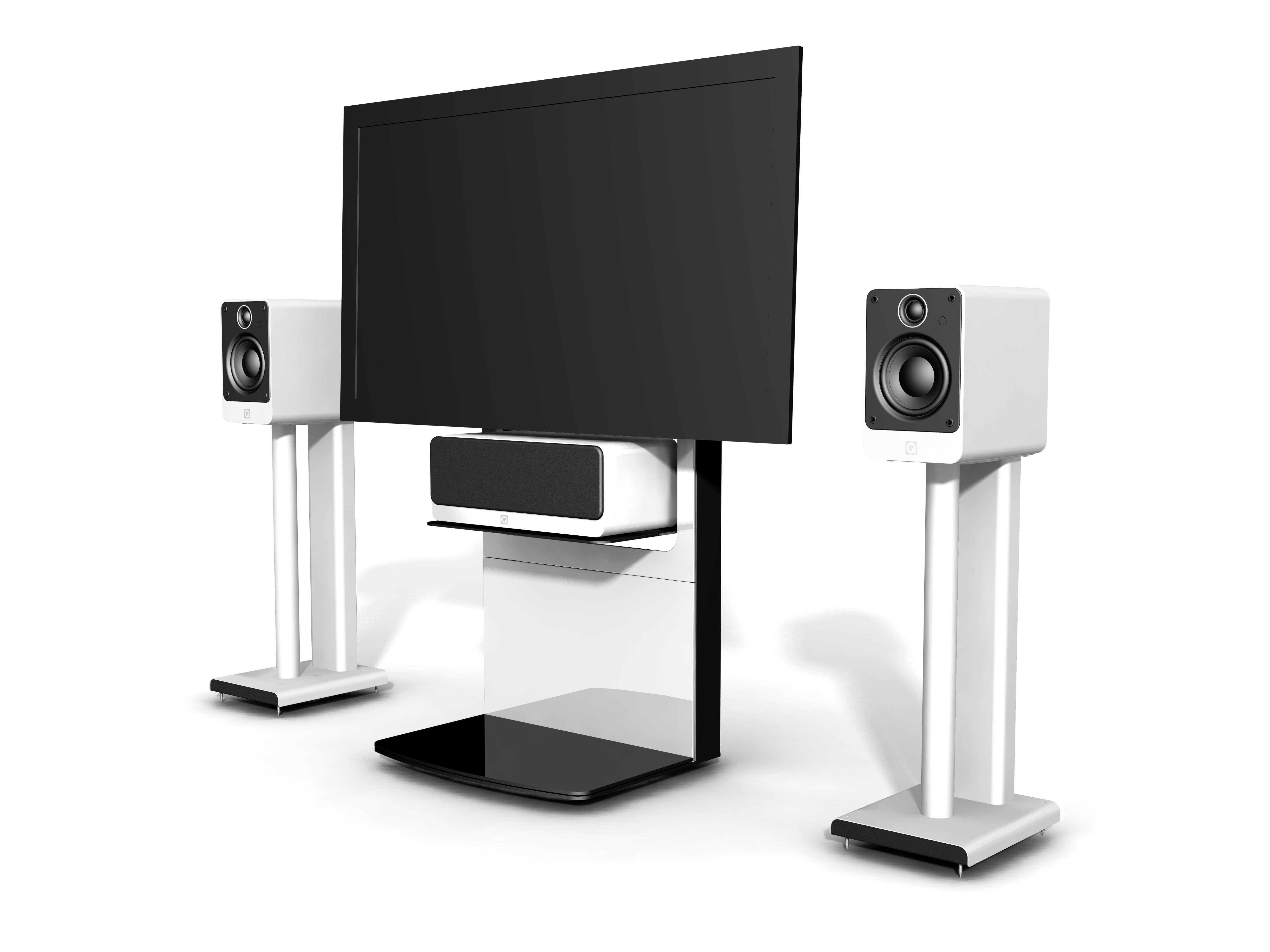 Q Acoustics Q2000 TV stand and Speaker stands - 01.jpg