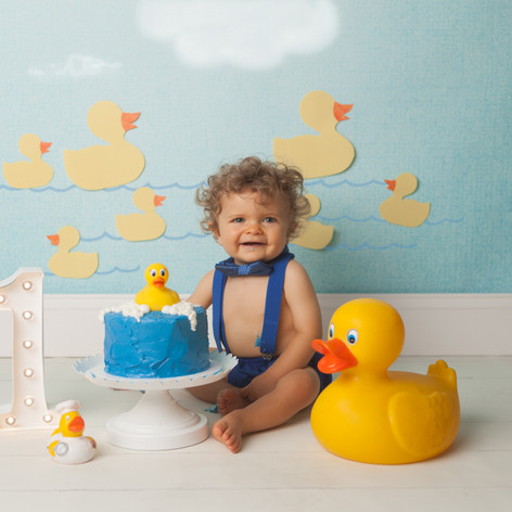 Rubber Duck Cake Smash