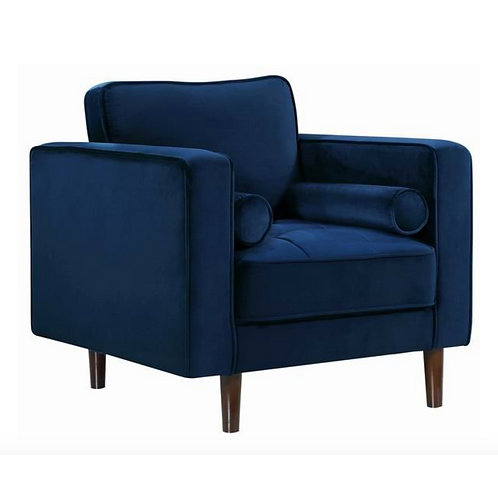 Pamula navy velvet armchair