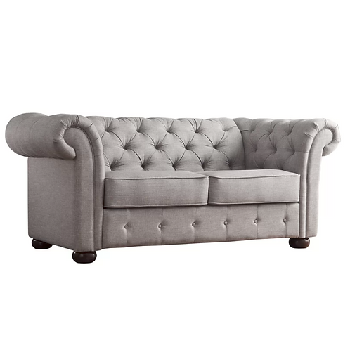Chesterfield heather gray love seat