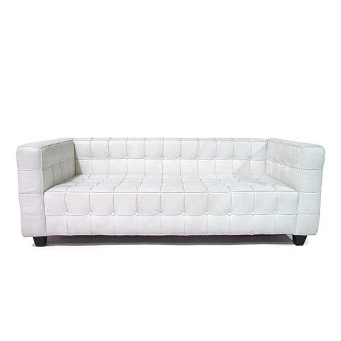 Button sofa white