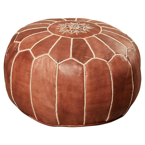pouf morrocan leather