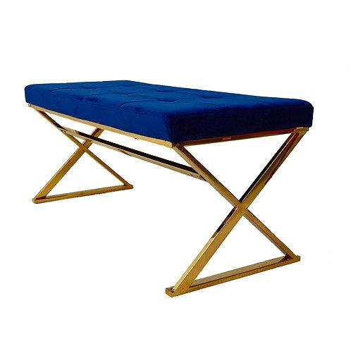 Quinn blue & gold bench