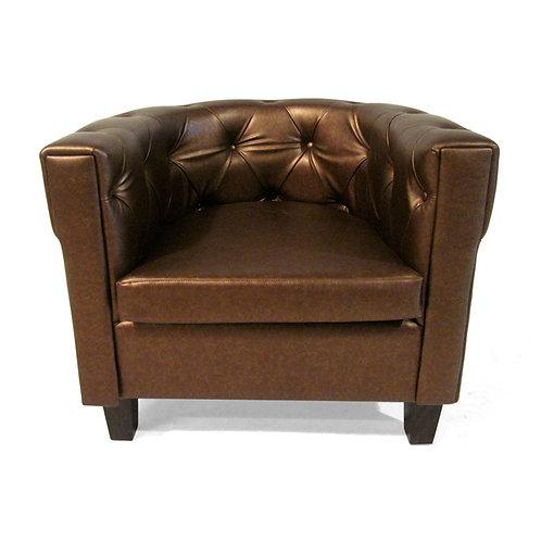 Club tufted bronze chair