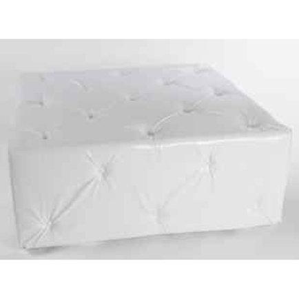 white square tufted ottoman