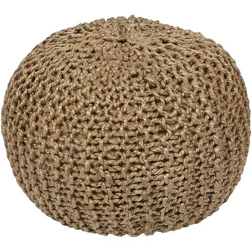 pouf natural woven