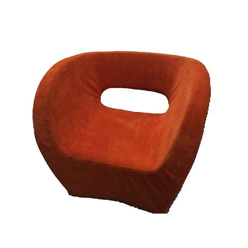 Mid century orange accent chair