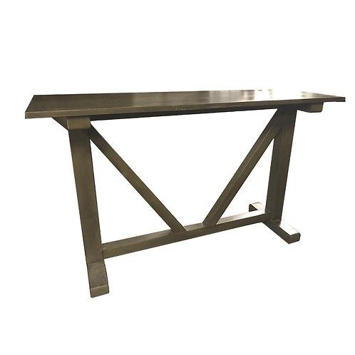 Teak ash console table