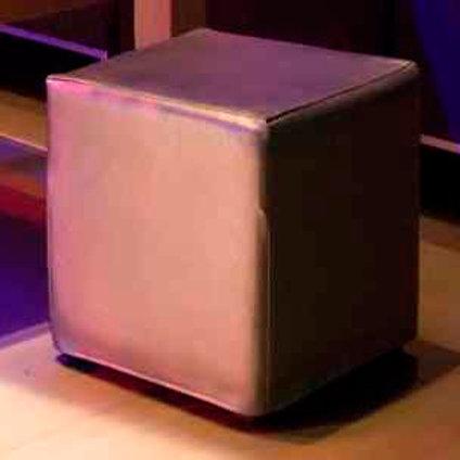silver cube ottoman