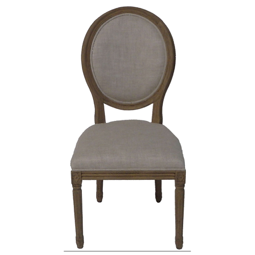 French round back chair