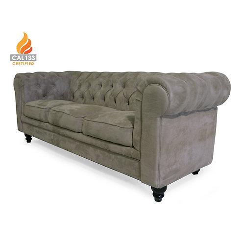 Aristocrat suede taupe sofa