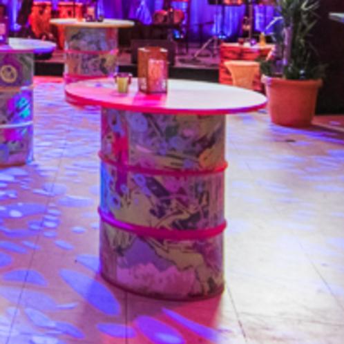 Steel drum table