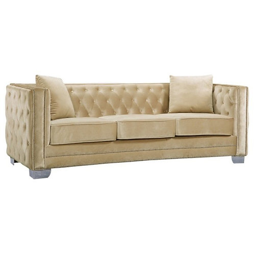 Chesterfield tufted beige sofa