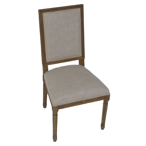 French square back chair