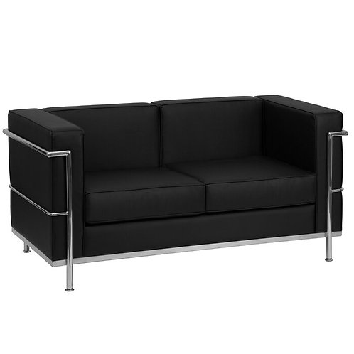 Fortress black love seat