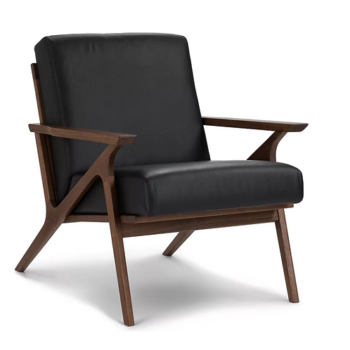 Draper black leather chair