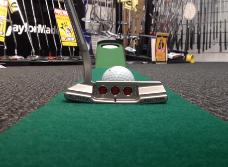 Why is practising putting from the same position beneficial?