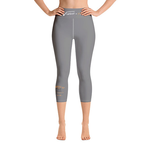 Property of Fit U Gray Yoga Capri Leggings
