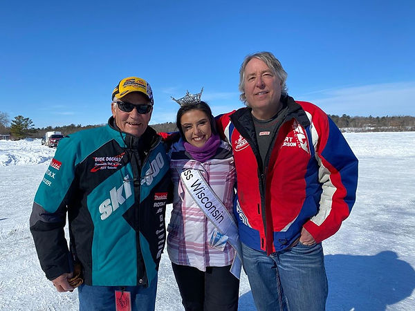 Dick Decker and Kurt and Miss Wisconsin.