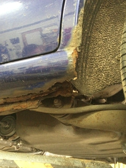 Corroded sills - MOT repairs