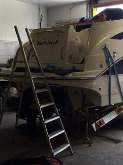 Aligning New Inboard Engine