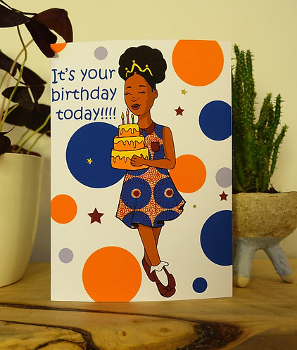 Personalised birthday girl card