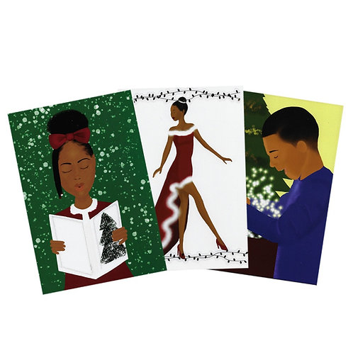 3 pack assorted Christmas cards