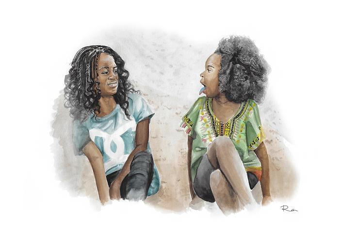 'Best friends' fine art print